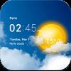 دانلود برنامه پیش بینی آب و هوا Transparent clock & weather 5.7.2 اندروید