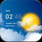 دانلود برنامه پیش بینی آب و هوا Transparent clock & weather 5.0.7 اندروید